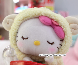 hello kitty, lunar new year, and sheep costume image