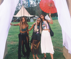 girl, friends, and boho image