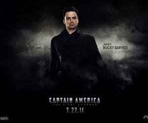 sebastian stan, captain america, and bucky barnes image