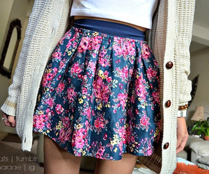 skirt, fashion, and flowers image