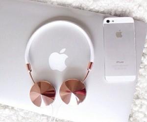 apple, iphone, and headphones image