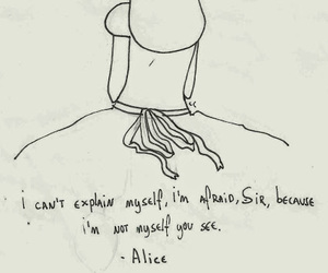 alice, quotes, and alice in wonderland image