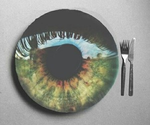 eye, green, and grunge image
