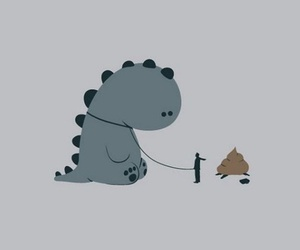 dinosaur, drawing, and funny image