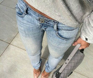 denim, outfits, and fashion image