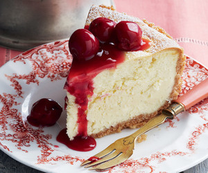 cake, food, and cherry image