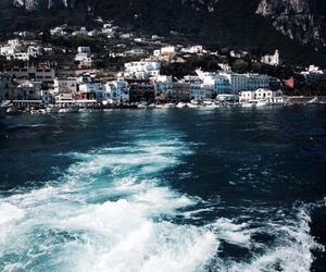 italy, sea, and capri image