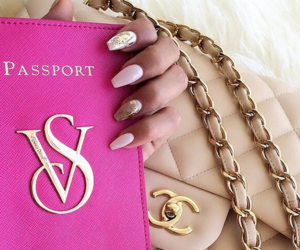 chanel, pink, and nails image