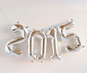 2015, new year, and balloons image