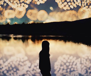 fireworks, girl, and night image