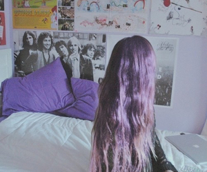 grunge, purple hair, and rooms image