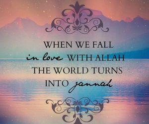 allah, islam, and jannah image