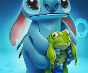 blue, frog, and stuch image