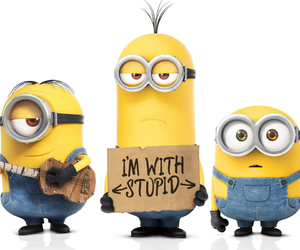 minions, stupid, and yellow image