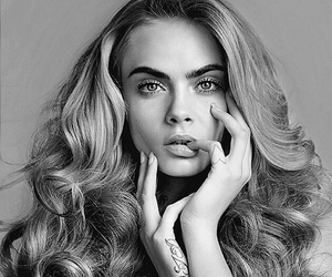 model, cara delevingne, and hair image