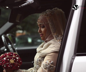 bride, wedding, and hijab image