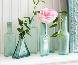 bottles, photography, and rose image