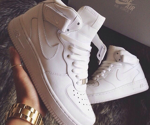 shoes, white, and nike air image