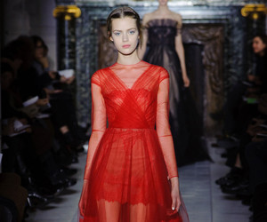 dress, red, and Valentino image