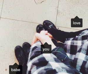 babe, boots, and couple image