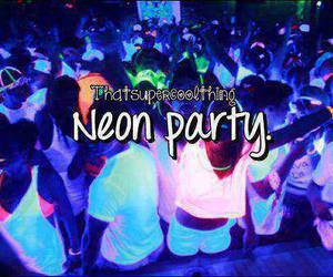 party, neon, and cool image