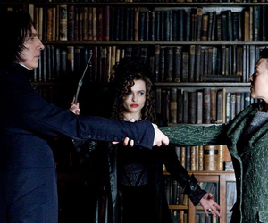 harry potter, bellatrix lestrange, and severus snape image