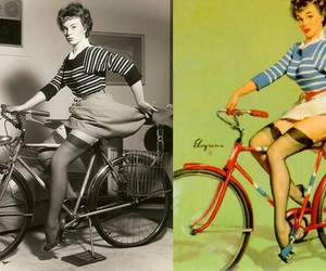 50's, bicycle, and photo image
