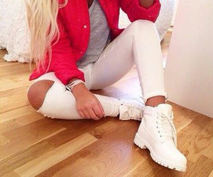 beautiful, timberland, and blondie image