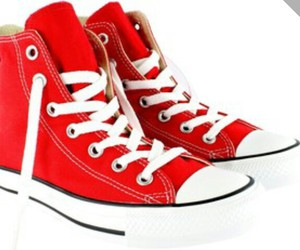 pretty, red, and shoes image