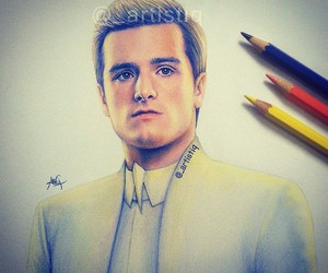 josh hutcherson, hunger games, and art image