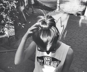 vans, girl, and hair image