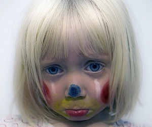 cute, sad, and clown image