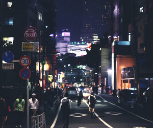 night, city, and japan image