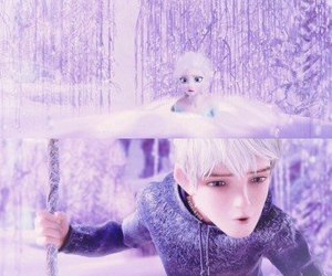 jelsa, jack frost, and snow image
