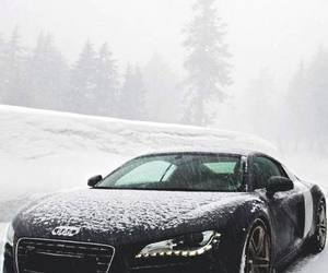 car, audi, and snow image