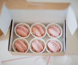 macarons, pink, and yum image
