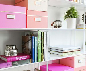 pink, home, and book image