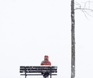 loneliness, snow, and winter image