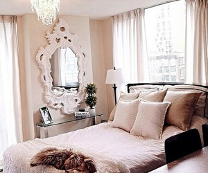 bedroom, makeup, and winter image