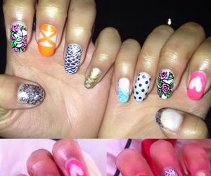 colourful, nailpolish, and nails image
