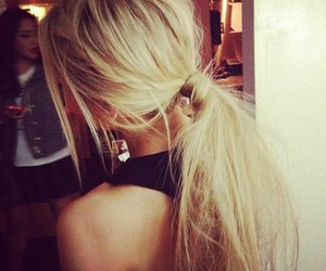 blond, girl, and pony tail image
