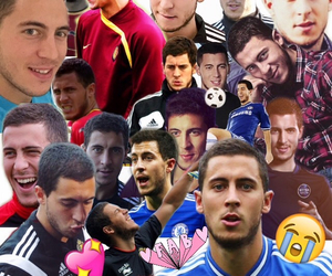 Collage, eden hazard, and cute image