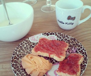 breakfast, cute, and hello kitty image
