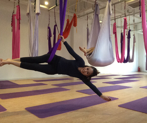 aerial, hammock, and gravity yoga image