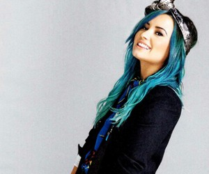 demi lovato, blue, and demi image