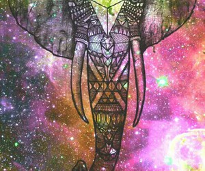 elephant, wallpaper, and galaxy image