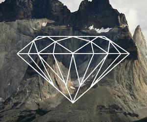 diamond, mountains, and wallpaper image
