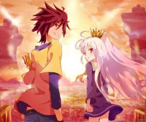 anime, no game no life, and manga image