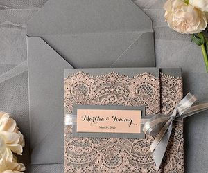 card, wedding, and invitation image