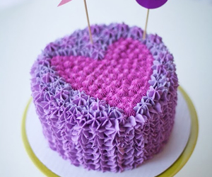 cake, pink, and purple image